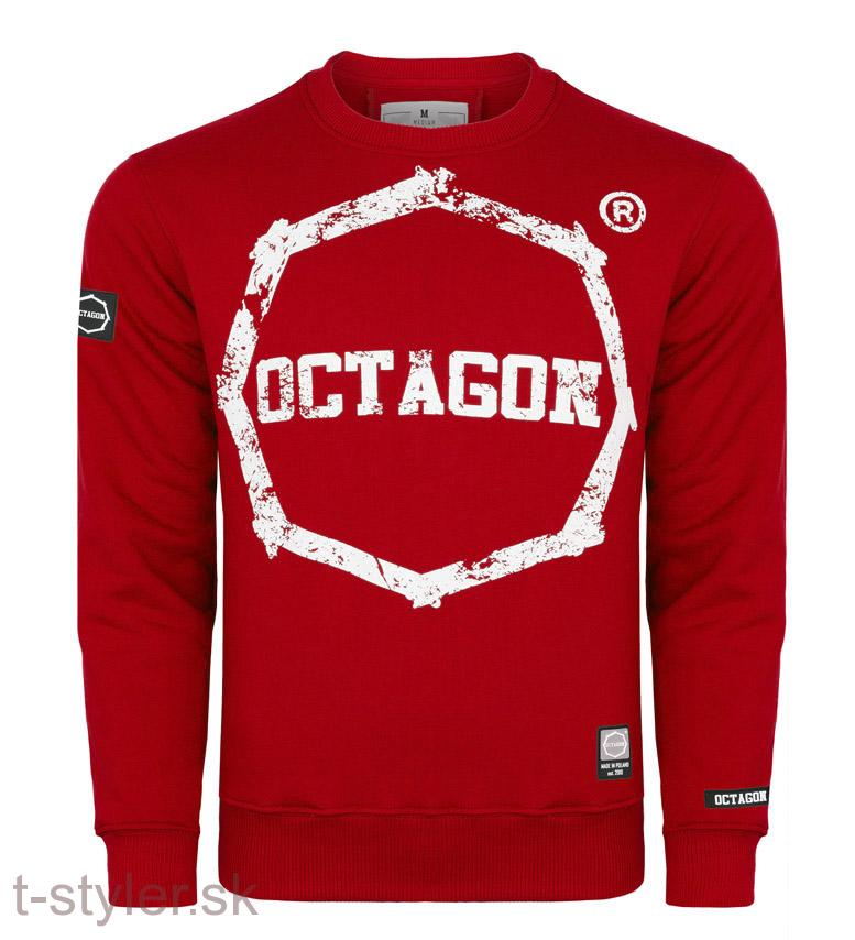Octagon Mikina Logo Smash - Red