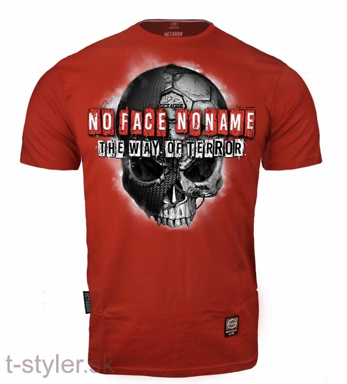 Octagon - T-shirt - No Face No Name 2 - Red