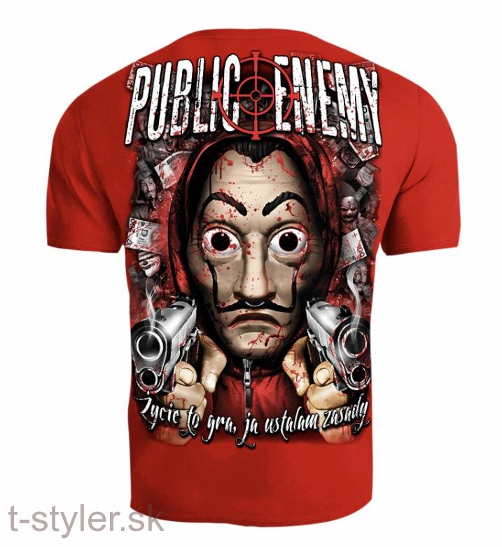 Public Enemy - T-shirt - ZYCIE TO GRA - Red