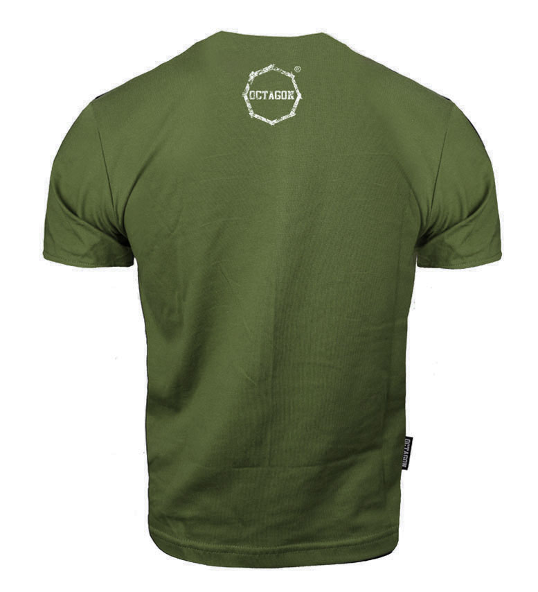 Octagon T-shirt Klasic Logo Big - Khaki