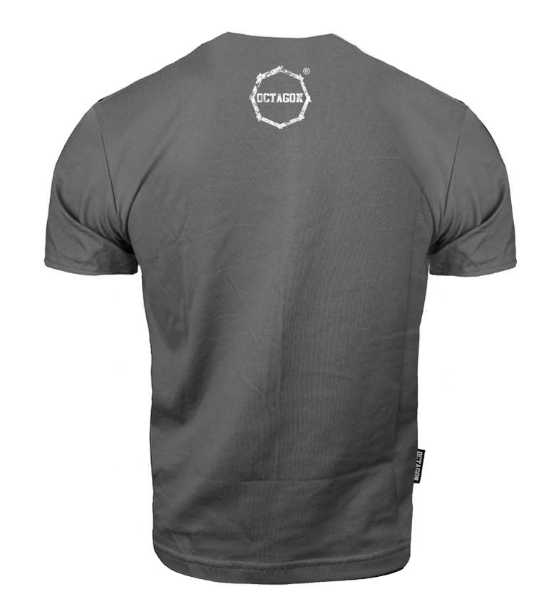 Octagon t-shirt Klasic Logo Big - Grey
