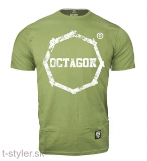 Octagon - T-shirt Logo Smash - Oliva