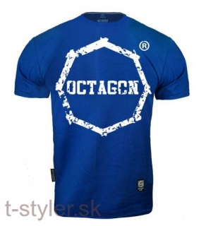 Octagon T-shirt Klasic Logo Big - Blue